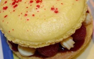 Macaron citron/framboise