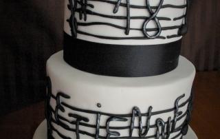 Wedding cake thème musicien
