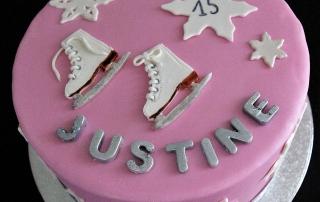 Gâteau patins à glace