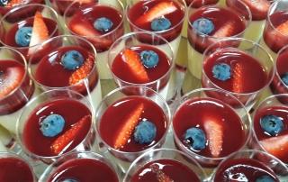 Pana cotta vanille fruits rouges